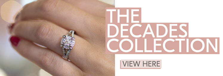 vintage diamond engagement ring, classic, unique ring design, two tone