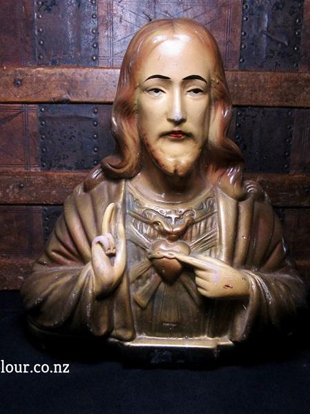 Vintage Eastern European Bust of Jesus