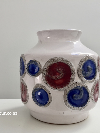 Vintage German Polka Dot Vase by VEB Haldensleben