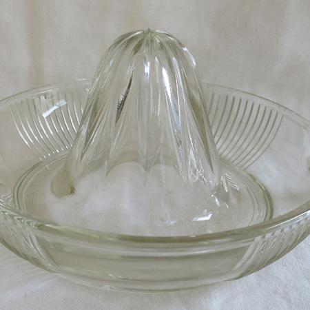 Vintage glass lemon juicer
