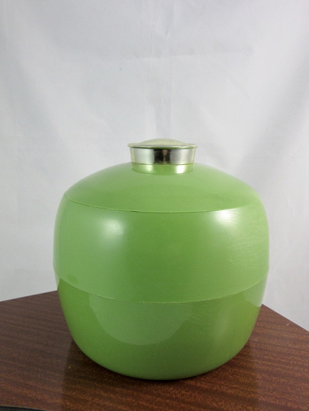 Vintage Green and Gold Embee Ice Bucket