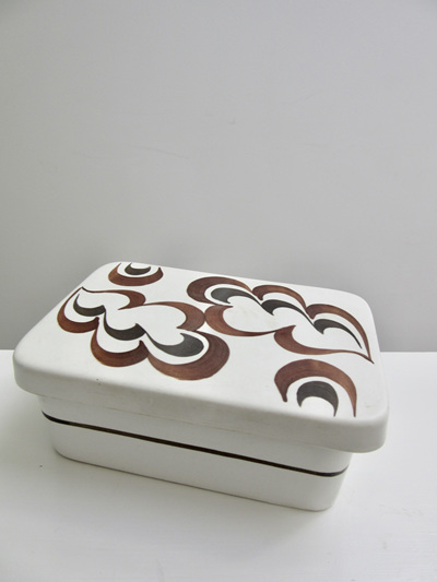Vintage Handpainted English Pottery Trinket Box