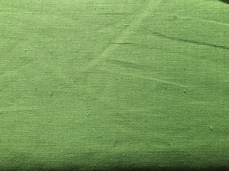 Vintage Italian Linen / Cotton Blend Fabric - Green - By the Metre