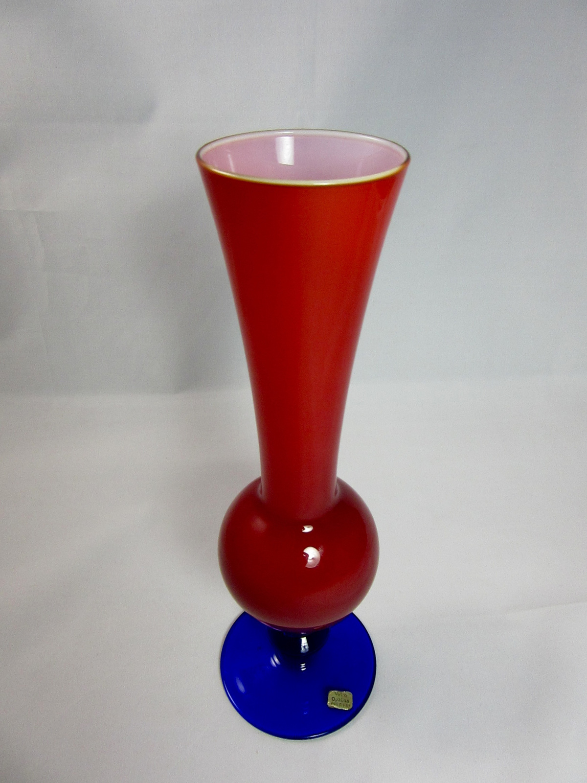 Vintage italian opaline glass vase in red and blue vintage colour reviewsmspy