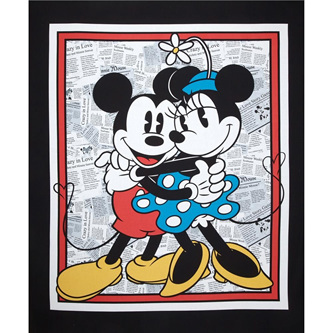 Vintage Mickey and Minnie Panel
