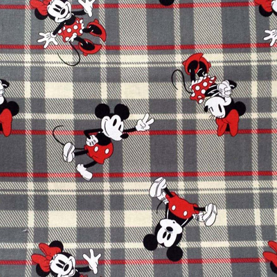 Vintage Mickey - Plaid