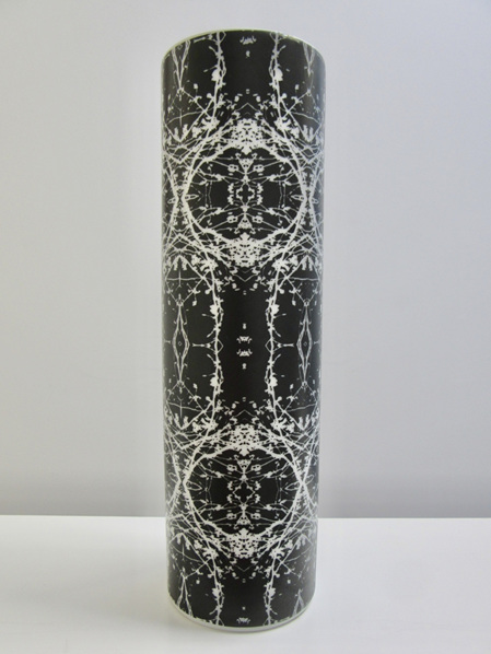 Vintage Op Art German Porcelain Vase by Hans Theo Baumann