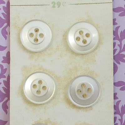 Set 8 pearl buttons
