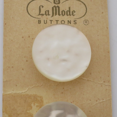 Large pearl shank buttons
