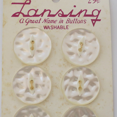 Mottled pearl buttons