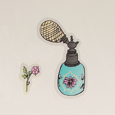 Vintage Perfume Bottle wall decal