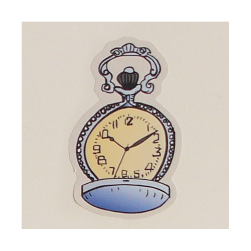Vintage pocket watch wall decal