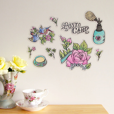 Vintage Postcard wall decal