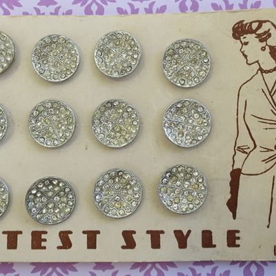 Metal rhinestone buttons