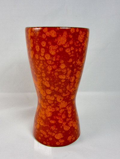 Vintage Scheurich Vase with Beautiful Mottled Orange Glaze