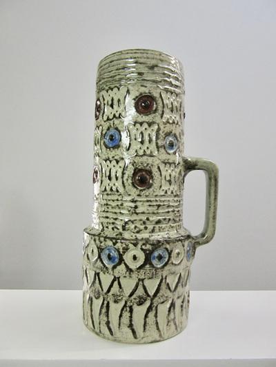 Vintage Spara West German Pottery Handled Vase
