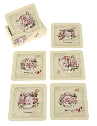 Vintage-Style Floral Coasters - Roses