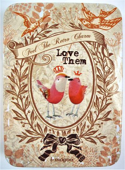 Vintage-Style Victoriana Tin: Love Birds