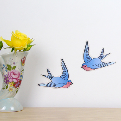 Vintage Swallows wall decal