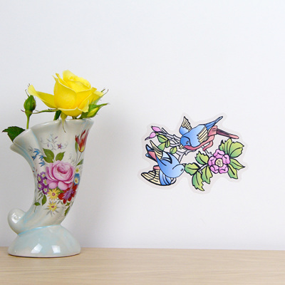 Vintage Swallows on Branch wall decal