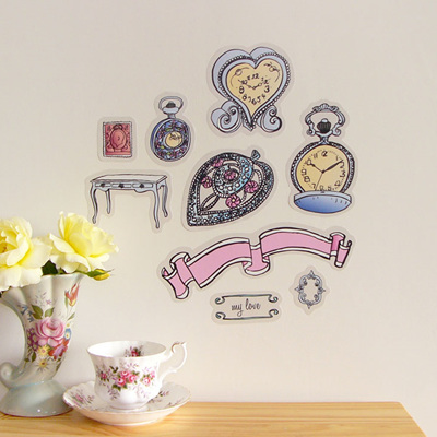 Vintage Timepieces wall decal