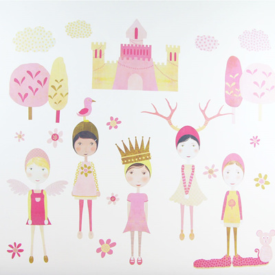 Castle Girls wall decal