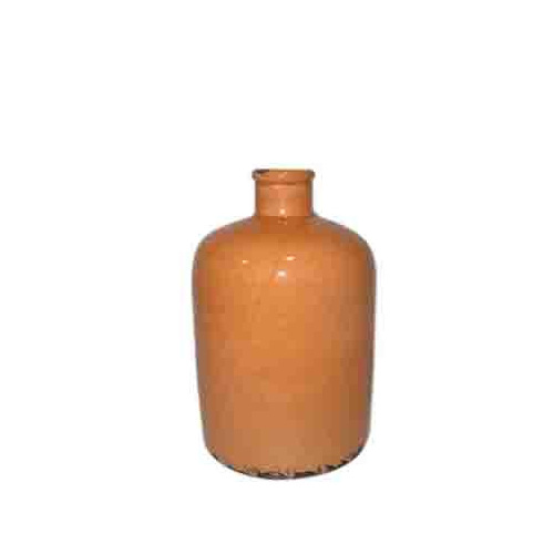 Vintage urn tangerine small or medium