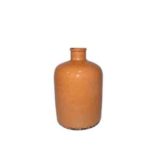Vintage urn tangerine small or medium