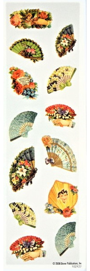 Vintage Victoriana Fan Stickers