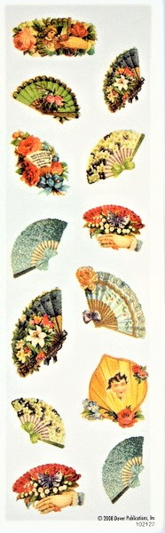 Vintage Victoriana Fan Stickers