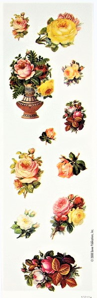 Vintage Victoriana Rose Stickers