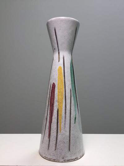 Vintage West German Vase in Mid-Century Colours