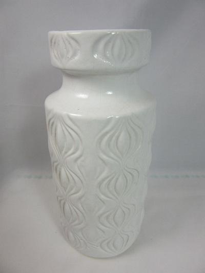 Vintage White Amsterdam Design Vase by Scheurich West Germany