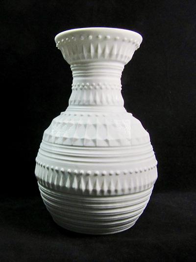 Vintage White Bavarian Bisque Porcelain Vase By Royal KPM