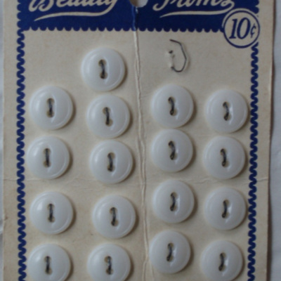 Lots little white buttons