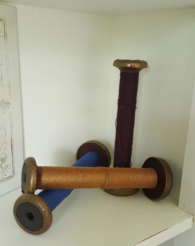Vintage Wooden Bobbins - large