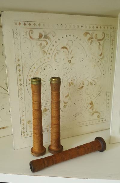 Vintage Wooden Bobbins - small