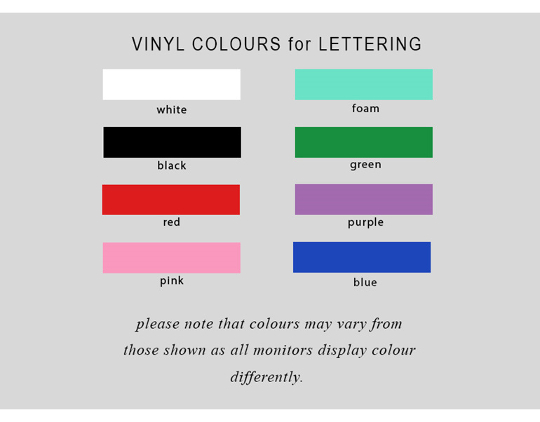 Vinul colours for lettering personalised Christmas Ball