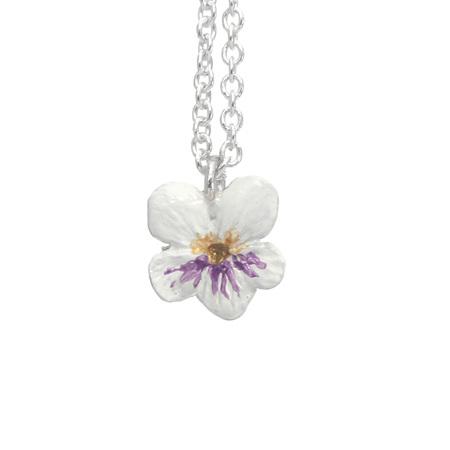 Violet Flower Necklace