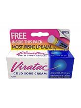 VIRATAC Cold Sore Crm 5% 5g +L/Balm