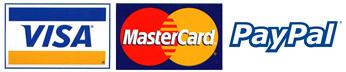 Visa Mastercard PayPal Logo