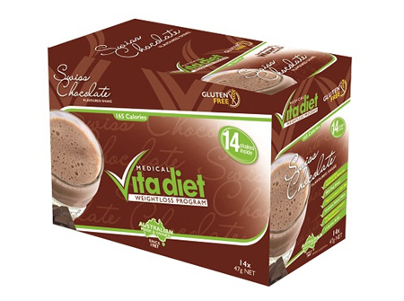 Vita Diet Swiss Chocolate Flavoured Shake  - 14 x 48g