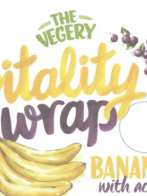 Vitality Wraps Banana w Acai (4 pack)