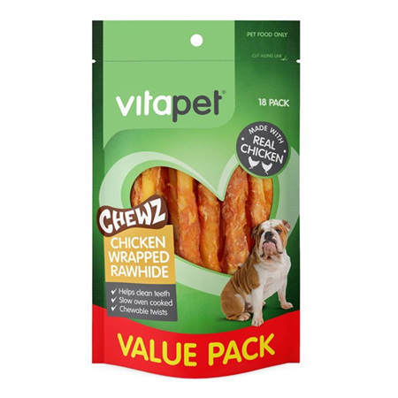 Vitapet Chicken Wrapped Rawhide Sticks