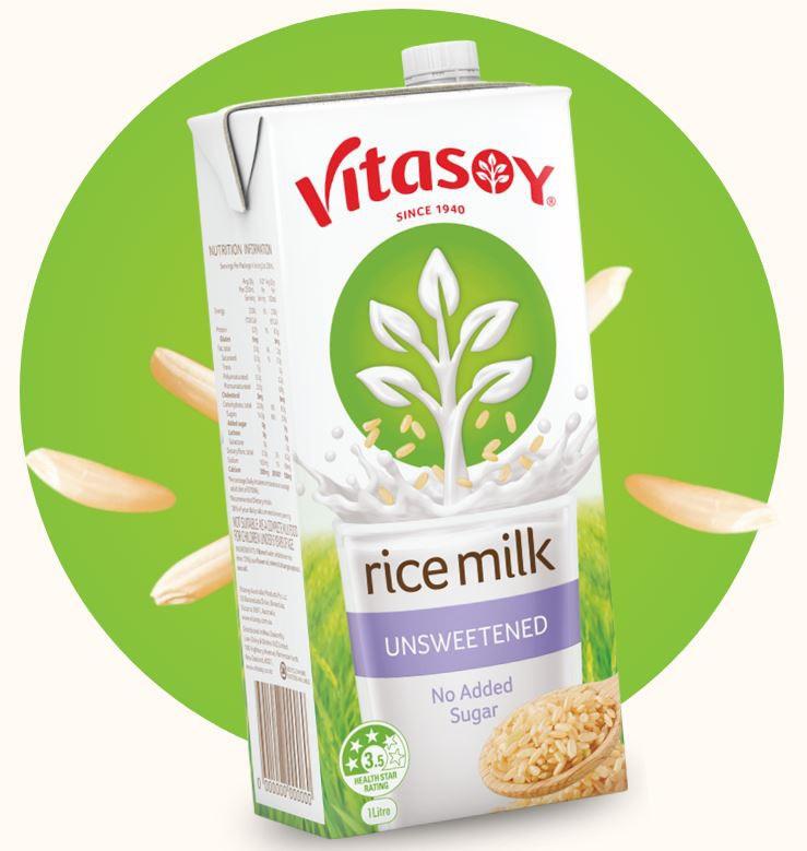 Vitasoy Unsweetened Rice Milk 1L