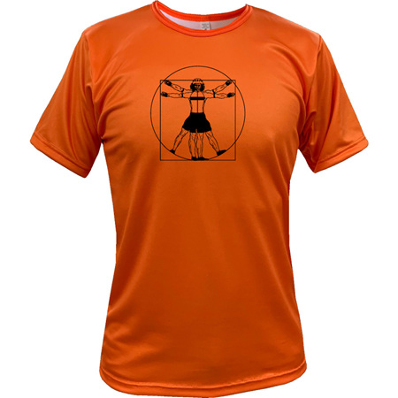 Vitruvian Cyclist Tee - Orange