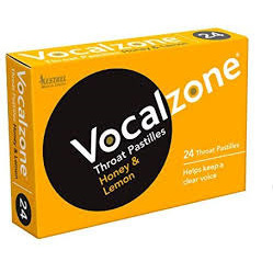 VOCALZONE HONEY & LEMON PASTILLES 24 PACK
