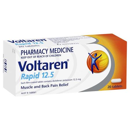 Voltaren Rapid 12.5mg Tablets 20