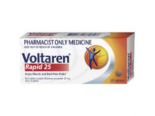 Voltaren Rapid 25mg 20 tablets