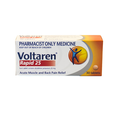 Voltaren Rapid 25mg Tablets